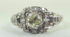 Antique Vintage Art Deco Diamond Engagement Platinum Ring Size 5 UK-J1/2 EGL USA