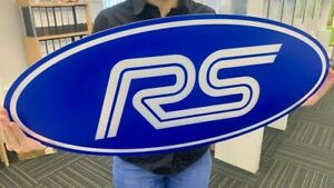 Ford RS logo sign BLUE large garage man cave sign can be illuminated E18D