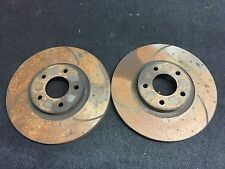 MAZDA MPS 6 MAZDA 3 ROTARY RX8 PAIR FRONT SLOTTED ROTORS 23 TO 24MM THICKNESS