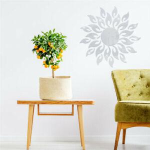 3D Sunflower Flowers Mirror Wall Sticker Self-adhesive Acrylic Living Room Decor