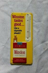 WINSTON CIGARETTES TASTES GOOD LIKE A CIGARETTE SHOULD THERMOMETER METAL SIGN #5
