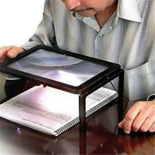 Rectangular Magnifying Glass with 4 Bright LED Light for Reading Aid