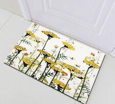 "24x16""Home Bath Mat Bedroom Porch Kitchen Rug Floor Carpet Abstract Daisy Bee"