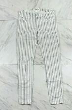Elizabeth and James Textile 28 Ozzy Stripe Destructed Skinny Jeans White