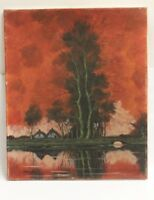 Gemälde Janson  Am Teich