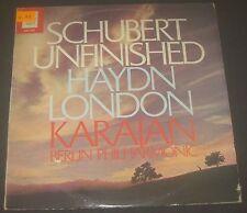 Schubert Unfinished Haydn London Karajan Angel ASD 3203 LP