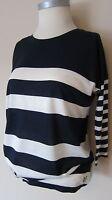 CREW CLOTHING LADIES NAVY & WHITE STRIPE TEE TOP BNWOT SIZES 6-18  RP£45