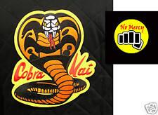 "ORIGINAL Cobra Kai patch set Karate Kid Movie - 10"" Large & Small Front NO MERCY"