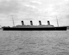 New 8x10 Photo: Side View of RMS TITANIC, Ill-Fated Ocean Liner