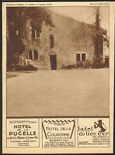 88 DOMREMY MAISON JEANNE D'ARC HOTEL DE LA PUCELLE BARDET PUBLICITE 1932