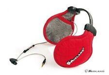 MIDLAND SUBZERO EAR MUFF HEADPHONES RED   mp3 ipod music 3.5mm jack stereo