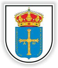 1x STICKER Escudo de Asturias SPAIN COAT OF ARMS decal