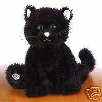 Webkinz Black Halloween plush Cat UNUSED TAG IN HAND NEW free ship Seasonal Rare