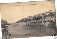 24 - cpa - TERRASSON - Les quais et le vieux pont