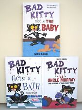 Bad Kitty Books by Nick Bruel, Lot of 3 Books