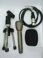 Audio Technica AT804 Omnidirectional Dynamic Microphone W/ A3F, Stand & Foam Mic