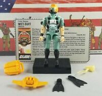Original 1986 GI JOE WET SUIT V1 ARAH not COMPLETE figure UNBROKEN Cobra