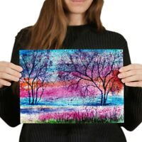 A4 - Pretty Tree Painting Art Poster 29.7X21cm280gsm #2332