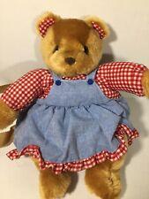 Small Vintage Teddy Bear Plaid Dress backpack