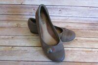 Cobb Hill Rockport Emma Ballet Flats Size 10 N Womens brown Shoes Leather Slides