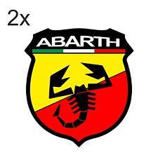 Sticker plastifié ABARTH SCORPION - Fiat 500 Punto coupé - 8cm x 8,5cm