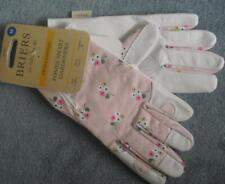 BRIERS Medium Professional Smart Leather Garden Gloves POSIES 4540027 Pink