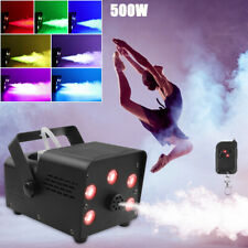 More details for rgb led fog machine smoke machine 500w wireless remote control dj disco party uk