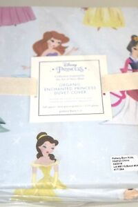 NEW Pottery Barn Organic Enchanted DISNEY Princess Duvet Cover TWIN FULL QUEEN