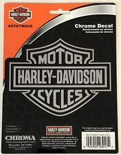 Harley-Davidson Bar & Shield Chrome Classic Graphix Sticker Decal NEW