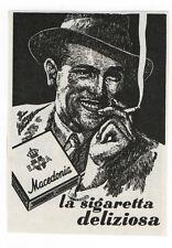 Pubblicità 1938 MACEDONIA SIGARETTE SMOKE CIGARETTE old advert werbung publicitè