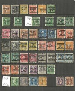 WASHINGTON FRANKLIN PRECANCELS - 48 DIFFERENT NY - VALUES TO $5