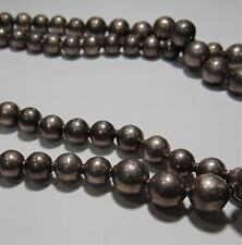 Made In Mexico 210-I Sterling Silver Beaded Necklace