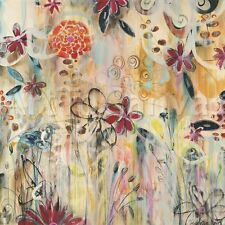 """36""""x36"""" GARDEN OF SUMMER'S RENEWAL by JOAN DAVIS FLORAL GICLEE CANVAS"""