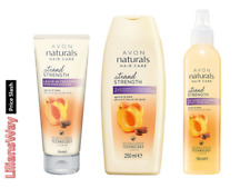 AVON NATURALS GOLDEN APRICOT & SHEA 3 PIECE ANTI HAIR BREAKAGE SET
