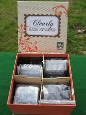 NEW Clear Craft Stamps Stamping Kit Clearly Hand Stamped by 3 Birds Scrapbook