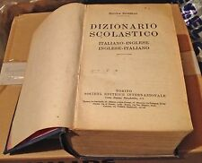 DIZIONARIO SCOLASTICO ITALIANO-INGLESE - SPINELLI edizione 1934