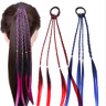Hiphop Girls Hair Wig Women Fashion Headband Twist Braid Rope Simple Rubber Band