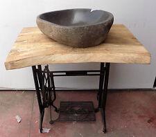 Piano x Lavabo piano in legno base macchina da cucire vintage mobile lavandino 2
