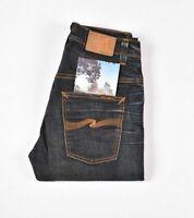 Nudie Jeans Tape Ted Gebraucht Braune Welle Blau Herren Größe 31/32 (28976)