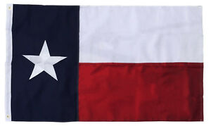 3x5 Texas Flag Embroidered Texas State Banner Grommets Double Sided