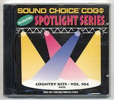 SOUND CHOICE KARAOKE SC-8496 COUNTRY HITS, NEW FACTORY SEALED SPOTLIGHT CD+G OOP