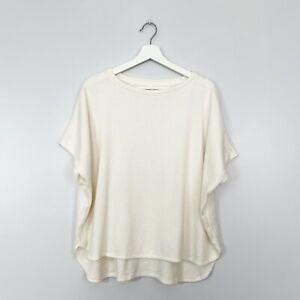 Lou & Grey Small Shirt Ivory Dolman Short Sleeve Plush