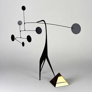 STABILE MOBILE ART TABLE TOP MODERN SCUPLTURE MID CENTURY DESIGN 50's N°8 BLACK