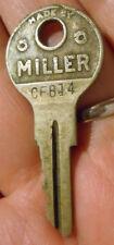 Vintage Old Antique Original Miller CF814 cf814 Hurd Look Brass Key