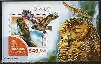 SOLOMON ISLANDS OWLS  SOUVENIR SHEET MINT NH