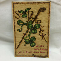 Vintage 1908 Postcard St. Patrick Tuck's Post Card Clovers Embossed