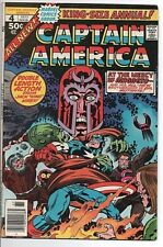 Marvel Comics Captain America Annual # 4 NM- 1977 The Great Mutant Massacre