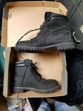 "Timberland 6"" Premium Black Nubuck Leather Top Boot Men's Size 12 TB073541"
