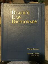 Black's Law Dictionary Tenth (10th) Edition Bryan A. Garner 2000+ Pages Long