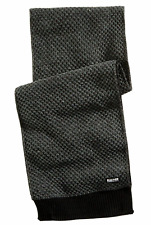 KENNETH COLE REACTION Men's Black Gray Pique Knit Warm Winter Scarf Shawl Winter